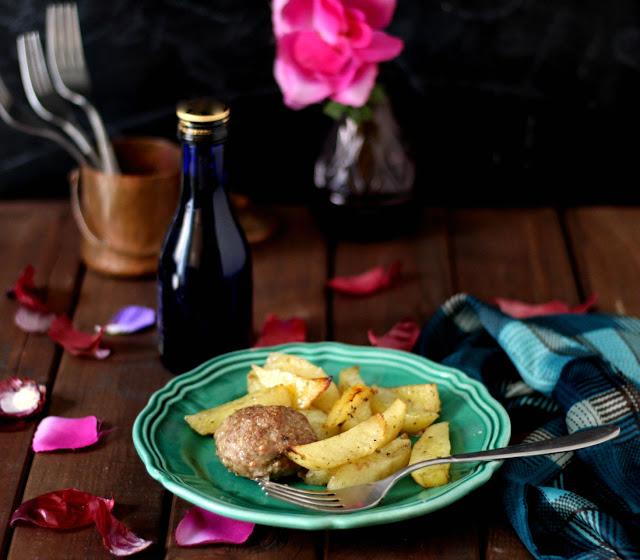 biftekia con patate al forno