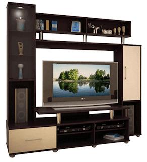 rak tv kayu minimalis