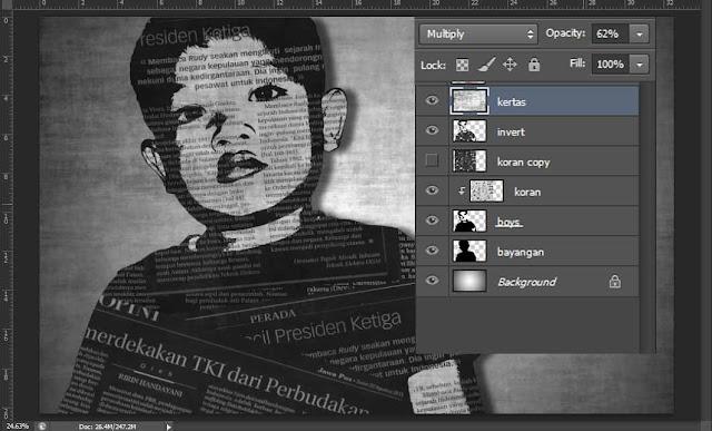 Membuat foto efek tulisan koran dengan Photoshop