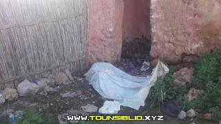 (بالصور) سليانة: العثور على جثة رجلتحمل آثار عنف وملطخة بالدماء  في أحد المنازل المهجورة بالقرب من المدرسة الابتدائية 2 مارس