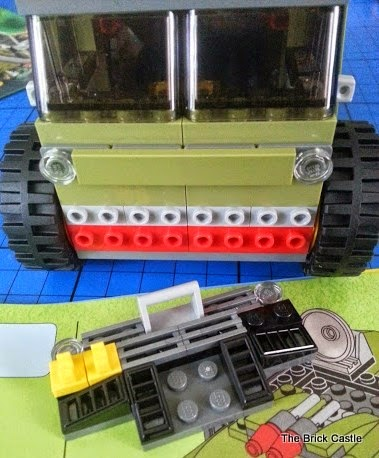 LEGO TMNT Turtle Van Takedown Set 79115 Review vehicle build front grill and radiator