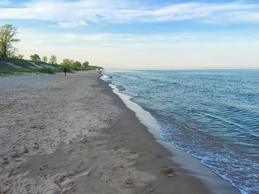 Beach at Kohler Andrae State Park in Sheboygan WI
