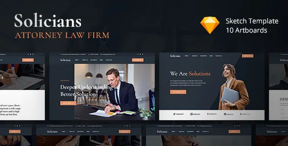 Best Attorney Law Firm Sketch Template