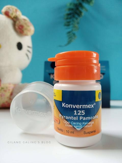Konvermex obat cacing keluarga suspensi rasa jeruk