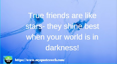 True friends are like stars | quotes for facebook