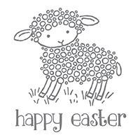 Easter Lamb- Wood mount #140740  $10.00