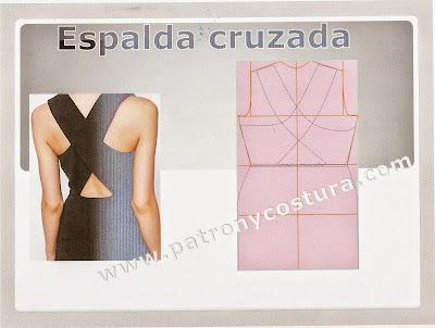http://www.patronycostura.com/Espalda cruzada en el vestido-tema 88/