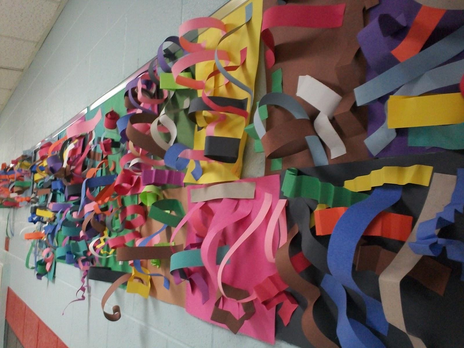 Art With Mr E Line Texture Focused Paper Sculpture