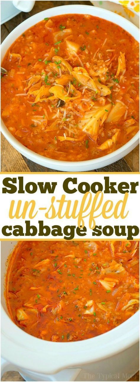 Slow Cooker Stuffed Cabbage Soup Recipes