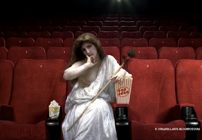 fotomontaggi di dipinti classici - Baccante di William Adolphe Bouguereau