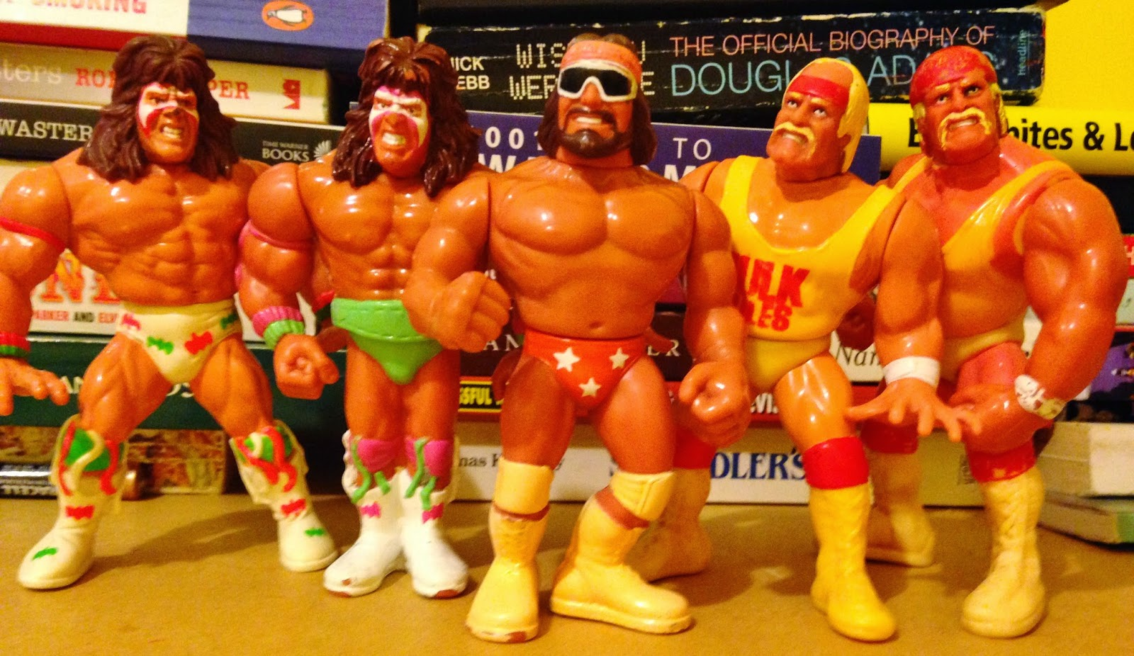 WWF Hasbro Figures - Old School legends Hogan, Savage and Warrior
