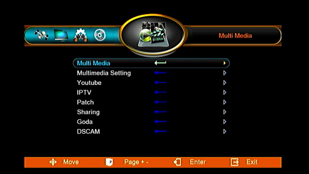 GPRS WIFI MENU SHARING NETWORK ECHOLINK HD RECEIVER