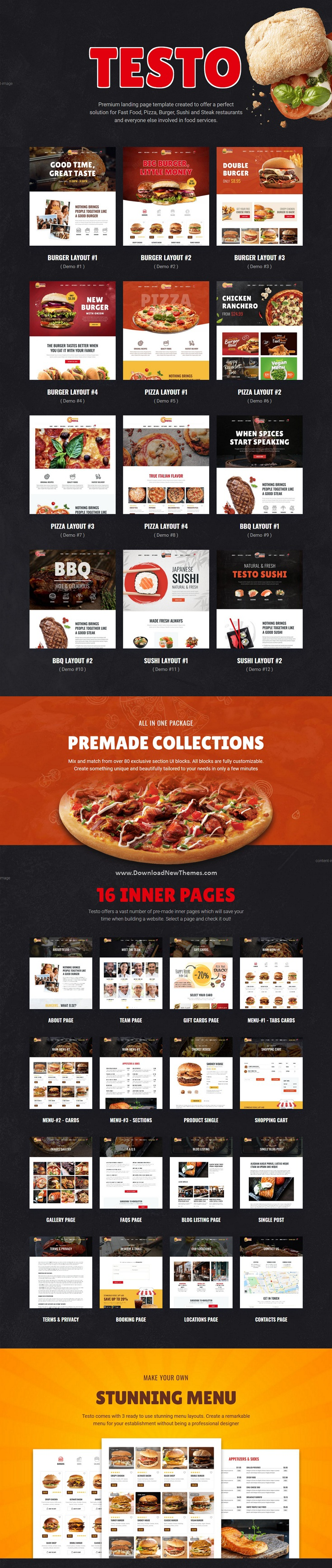 Pizza Caffe Restaurant Website Template