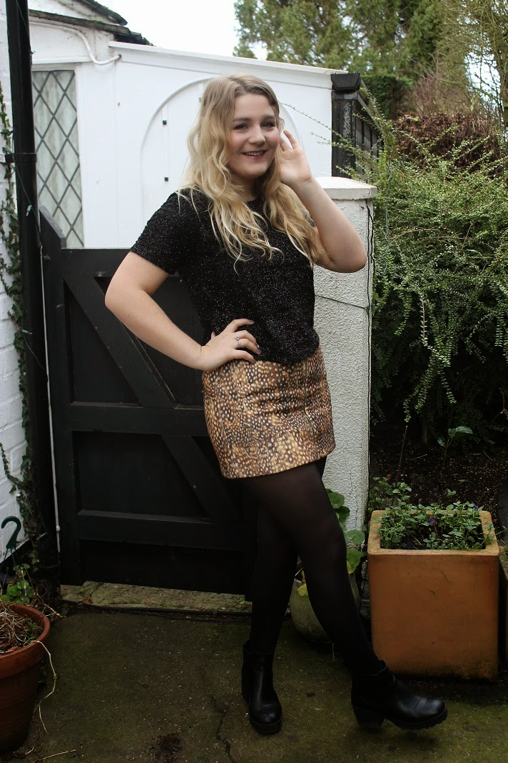 Christmas Eve Topshop Bambi Skirt