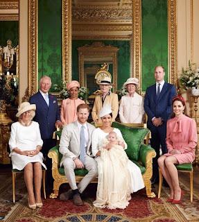 Duke and Duchess of Sussex Christening photo