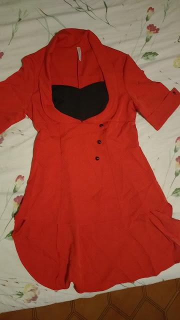Recebidos Loja Dresslily blusa vermelha