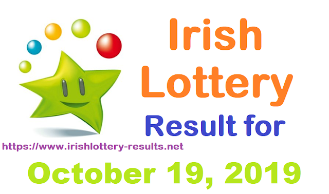 Irish Lottery Results for Saturday, October 19, 2019