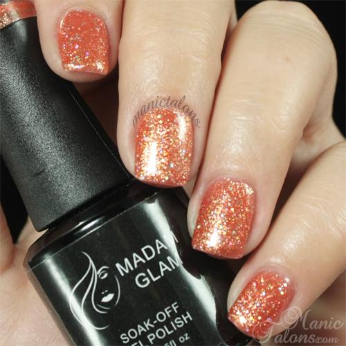 Madam Glam Gel Polish 061 Sandy Sparkles Swatch