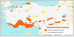 Türkiye'de Karstik Şekiller