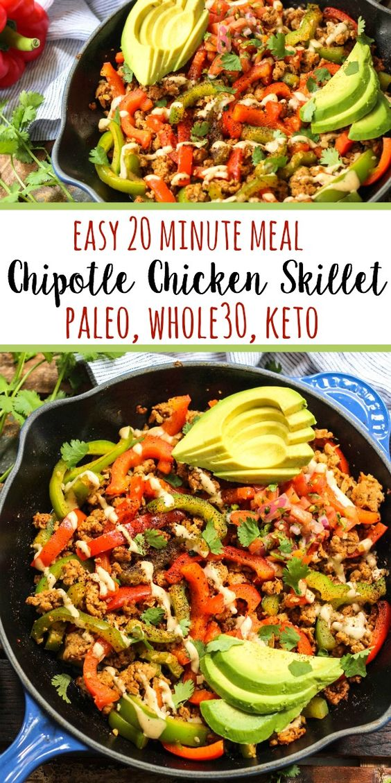 Whole30 Chipotle Chicken Skillet (Paleo, Keto, GF)