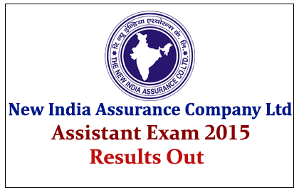 NIACL Assistant Online Exam 2015- Results Out