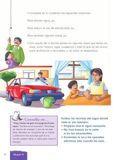 Apoyo Primaria Formación Cívica y Ética 1er grado Bloque 3 Lección 4 Aprender a respetar nuestro ambiente