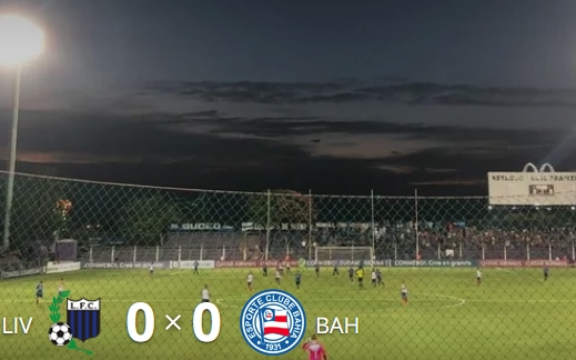 Bahia empata com Liverpool-URU