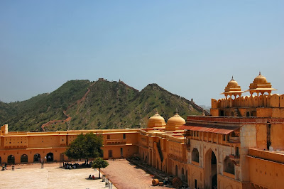Courtyard of the Amber Fort, India