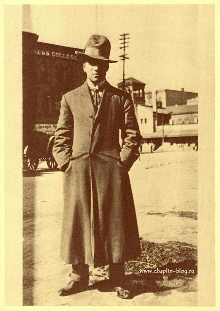 Чарли Чаплин в свой первый визит в Америку