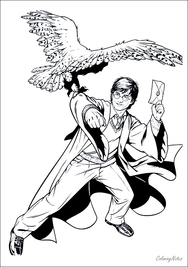 Harry Potter Coloring Sheets