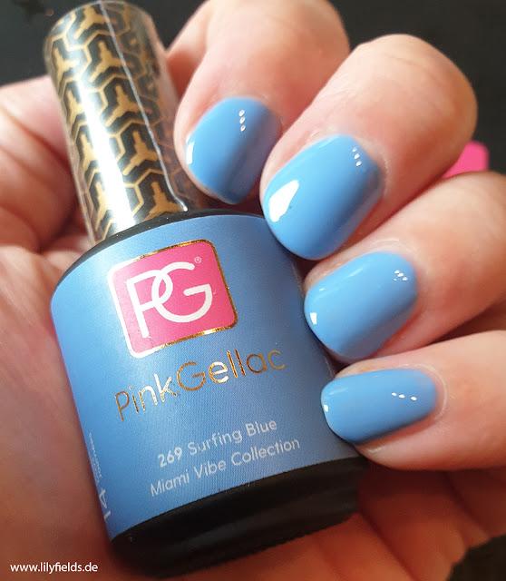 Pink Gellac - 269 Surfing Blue - UV Nagellack