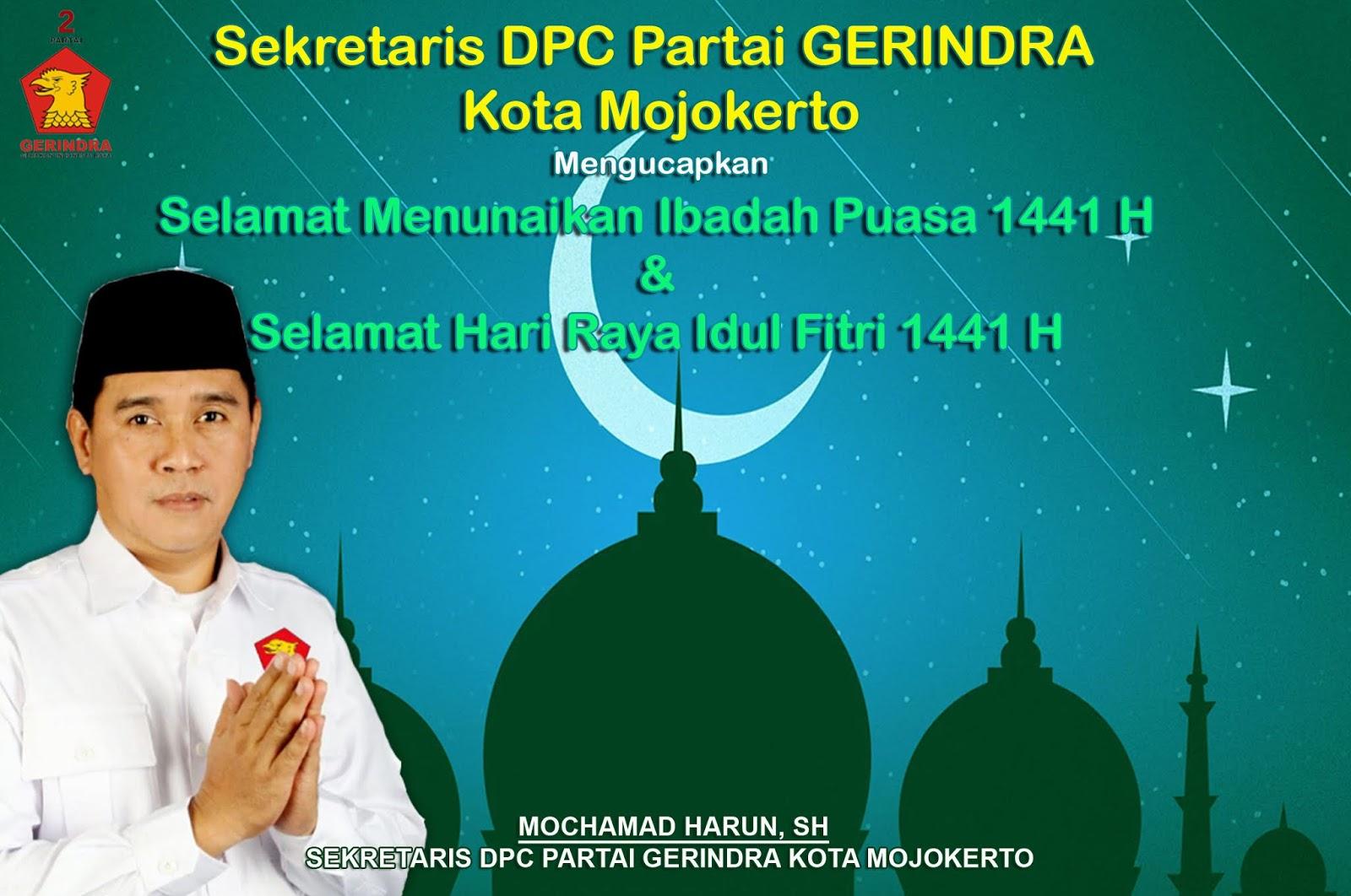 Sekretaris Dpc Partai Gerindra Kota Mojokerto Mengucapkan Selamat