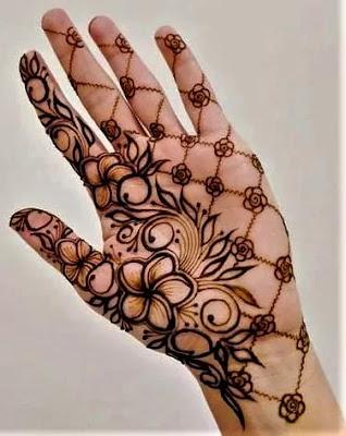 front hand easy mehndi design