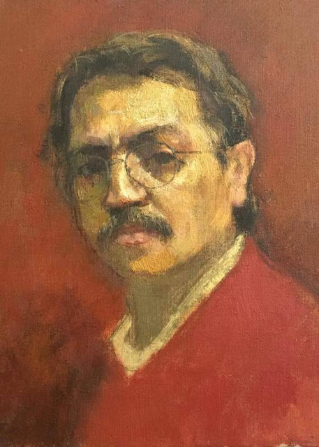 José Sánchez Carralero, Self Portrait, Portraits of Painters, Fine arts, Sánchez Carralero