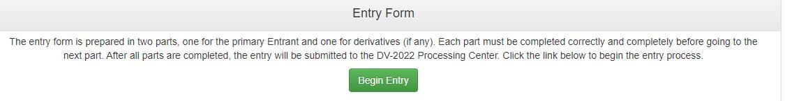 entry for edv lottery diversity visa 2022