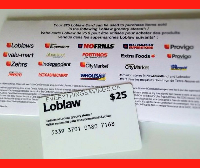 Loblaw Gift Card Update