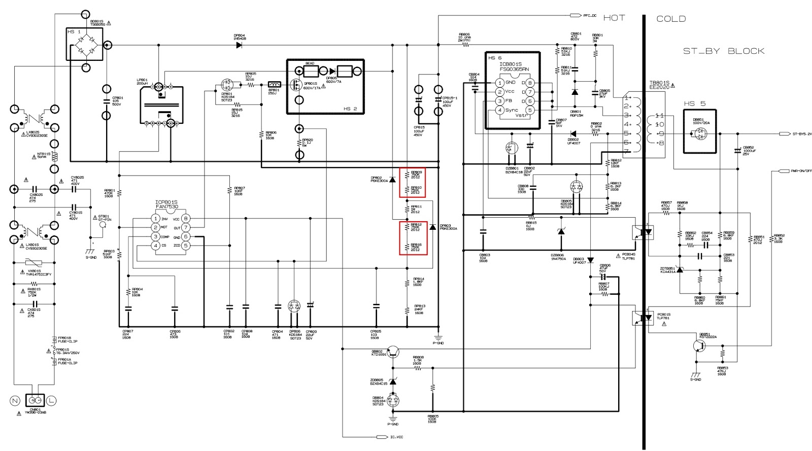 Bn44 00216a Samsung Le32b530p7n Le37a552p3r Lcd Tv Smps Circuit Diagram Click On The To Zoom In