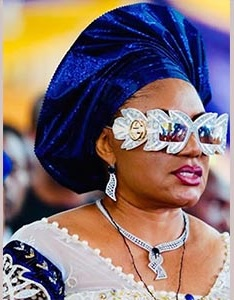 Anambra Gov's wife, Ebelechukwu, dons Swarovski crystals-enriched $2,755 Gucci glasses at funeral mass