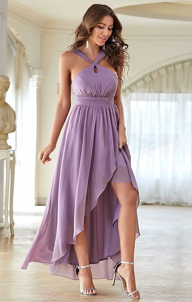 Best Chiffon Halter Bridesmaid Dresses