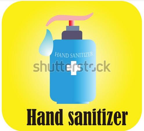 illustration drawing hand sanitizer
