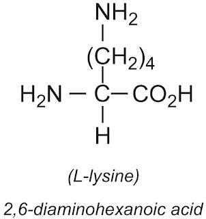 Công thức hóa học của L- lysine
