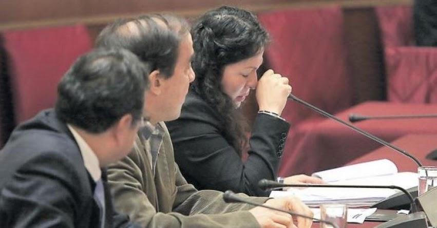 Congresista fujimorista Yesenia Ponce se defendió entre lágrimas sobre sus estudios secundarios y presunto enriquecimiento ilícito