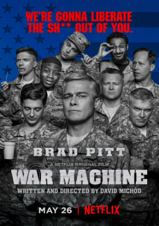 War Machine 2017 BluRay 350MB Hindi Dubbed Dual Audio 480p Watch Online Full Movie Download bolly4u