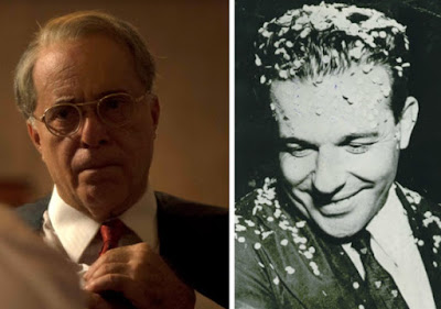 O ator Tony Ramos interpretando Getúlio Vargas; à direita, o presidente João Goulart (Fotos: Divulgação/Curta!)