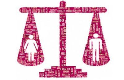 Balança com direitos iguais para homens e mulheres