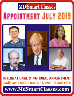 July 2019 Appointments in English PDF - National & International