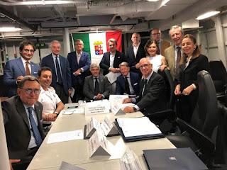 Consiglio della Federazione del Mare a bordo di nave Bergamimi