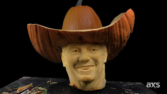 An annual tradition, AXS has created a larger-than-life pumpkin sculpture of a music icon. For 2019, the ticketing and technology company selected the best pumpkin from the patch and headed to Texas to hold court with the King of Country himself, George Strait.