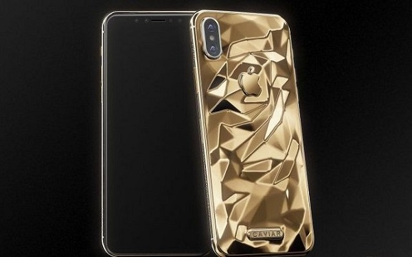 هاتف مطلي بالذهب