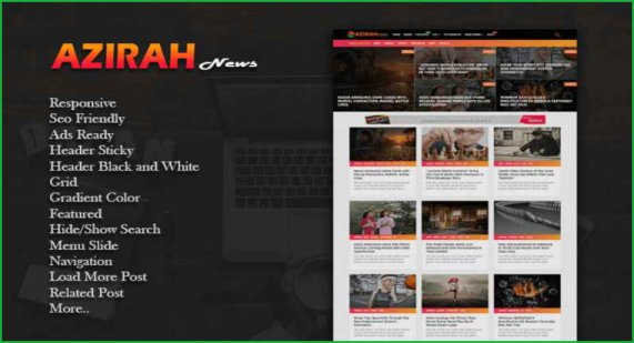 Azirah-blogger-template